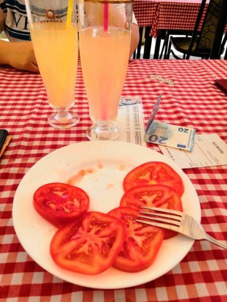 Салат в Черногории
